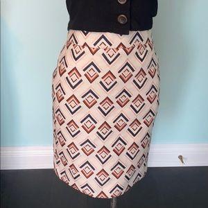 Ann Taylor geometric skirt